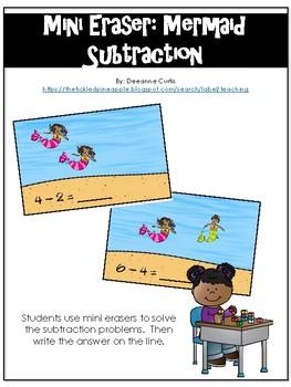 Mini Eraser-Mermaid Subtraction (center game)