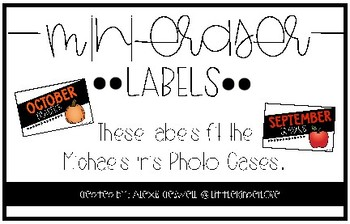 Mini-Eraser Photo Case Labels