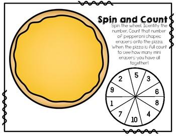 Mini Eraser Pizza Counting
