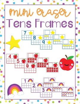 Mini Eraser Tens Frames Task Cards