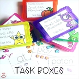 Mini Erasers Count the Phonemes Task Boxes Bundle (Orton-Gillingham)