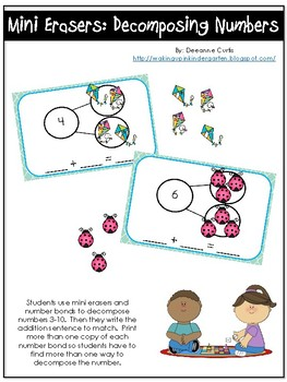 Mini Erasers: Decomposing Numbers
