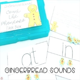 Mini Erasers Gingerbread Sounds Count the Phonemes Task Box (Orton-Gillingham)