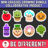 Mini Erasers Growing Bundle Clipart - Collaborative Product