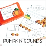 Mini Erasers Pumpkin Sounds Count the Phonemes Task Box (Orton-Gillingham)