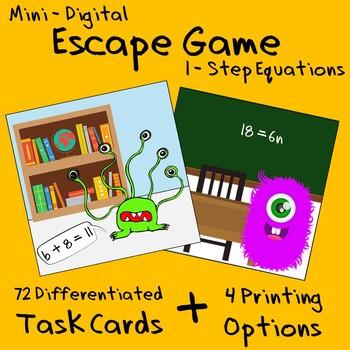 Mini Escape Game - 1-Step Equations