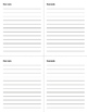 Mini Essay Marking Sheets