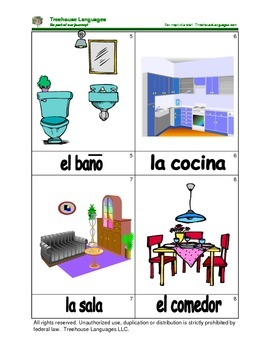Mini Flashcard Set - La casa / House