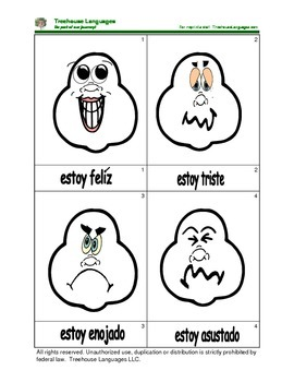 Mini Flashcard Set - Los sentimientos / Feelings