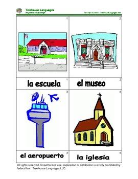 Mini Flashcard Set - Lugares / Places