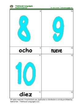 Mini Flashcard Set - Números 0-10 / Numbers 0-10