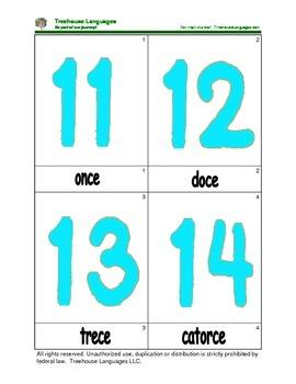 Mini Flashcard Set - Números 11-20 / Numbers 11-20