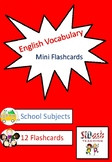 ESL Mini Flashcard Set (School Subjects)