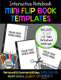 MINI FLIP BOOK TEMPLATES FOR INTERACTIVE NOTEBOOKS PERSONAL AND COMMERCIAL USE