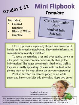 Mini Flip Book Templates