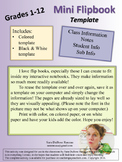 Mini Flip Book Templates
