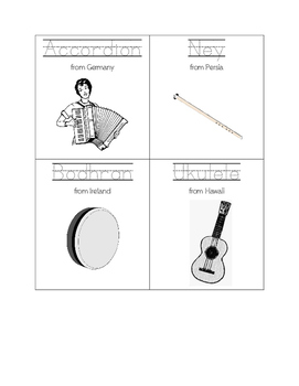 Mini-FlipBook: World Music Grades 3-4