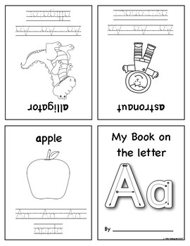Mini Foldable Alphabet Books