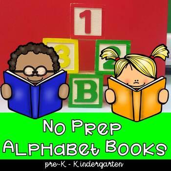 Mini Foldable Alphabet Books for preschool and kindergarten, morning work