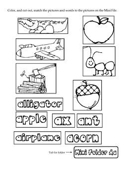 Mini Folder Letter Fun