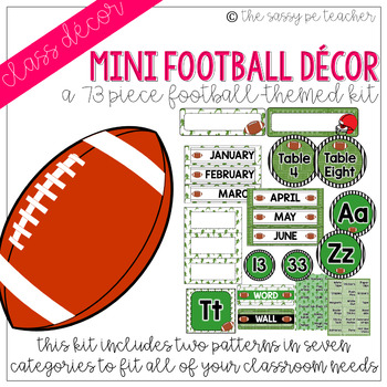 Mini-Football Classroom Decor Pack
