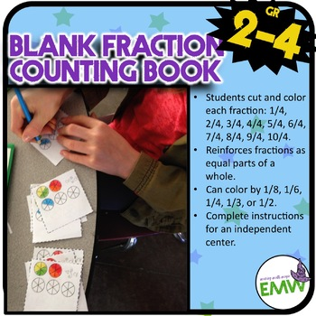 Mini Fraction Counting Book - FREEBIE