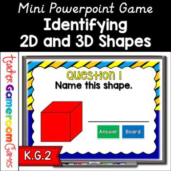 Mini Game - 2D & 3D Shapes