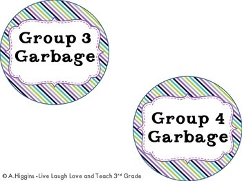 Mini Garbage Can Signs