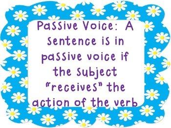 Mini Grammar Lesson - Active and Passive Voice