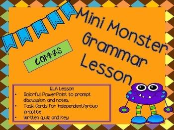 Mini Grammar Lesson - Commas