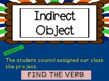 Mini Grammar Lesson - Direct Object/Indirect Object