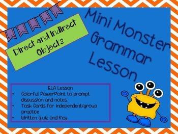 Mini Grammar Lesson - Direct Object/Indirect Object