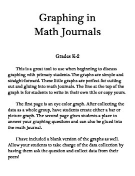Mini Graphs for Math Journals