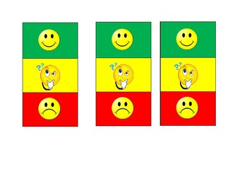 Mini Green, Yellow, Red portable behavior chart