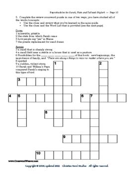 Mini-Guide for Juniors: Sarah, Plain and Tall/Skylark Reproducibles