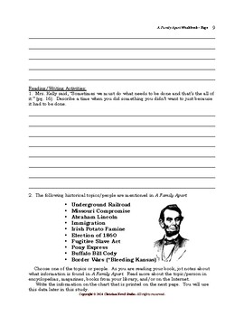 Mini-Guide for Middlers: A Family Apart Workbook