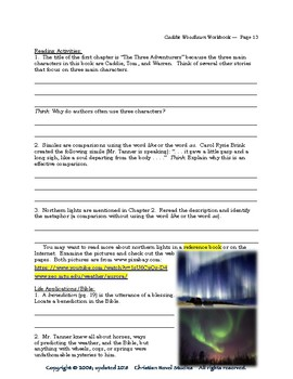 Mini-Guide for Middlers: Caddie Woodlawn Workbook