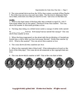 Mini-Guide for Middlers: False Coin True Coin Reproducibles