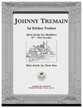 johnny tremain novel study teaching resources teachers pay teachers  mini guide for middlers johnny tremain interactive