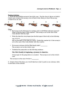 Mini-Guide for Middlers: Journey to America Workbook