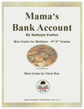 Mini-Guide for Middlers: Mama's Bank Account