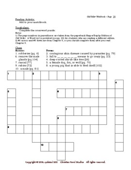 Mini-Guide for Middlers: Old Yeller Workbook
