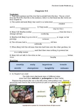 Mini-Guide for Middlers: The Secret Garden Workbook