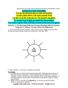 Mini-Guide for Seniors: Let the Circle Be Unbroken and RtM Reproducibles