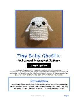 Fiber Art Craft for Beginners Halloween Ghost Amigurumi Crochet Pattern Tutorial