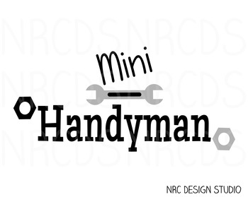 Mini Handyman SVG Cutting File - Commercial Use SVG, DXF, EPS, png