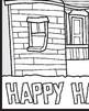 Mini Haunted House Mural