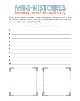 Mini-Histoires -- Mini Stories: Learning French Through Story
