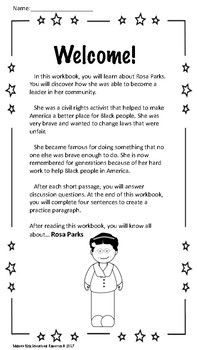 Mini History Workbook for Special Education Students