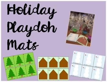 Mini Holiday Playdoh Mats